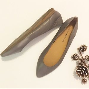 Lucky Brand Grey Flats Shoes NWOT